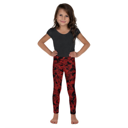 Camouflage Angry Larva Design Kid's Leggings