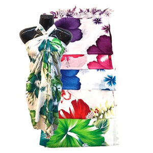 Hibiscus Design Beach Pareo Batik