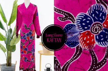 Long Sleeve Batik Kaftan