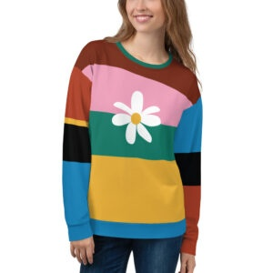 This is all over print sweatshirt inspired by StarGirl Disney movie.