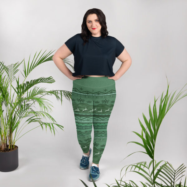Buy plus size printed leggings design by PES dress on PES ideas