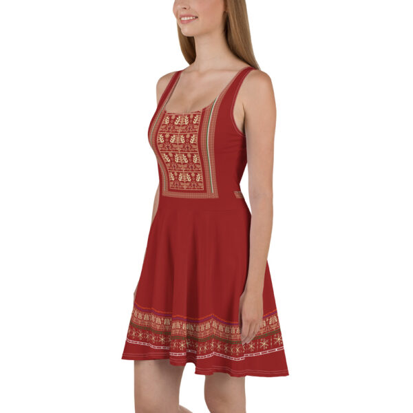 This is Mexican style printed skater dress.
