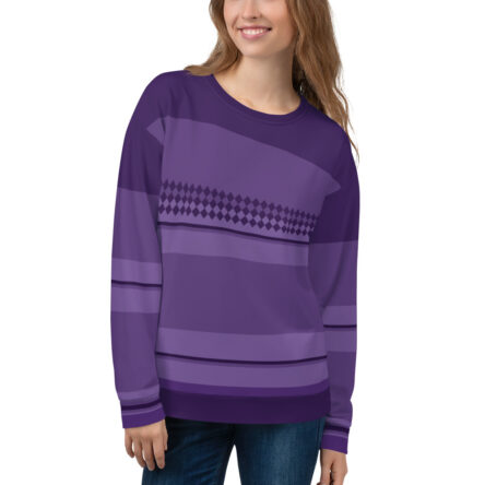 Amethyst Unisex Sweatshirt Gemstone Color Inspired