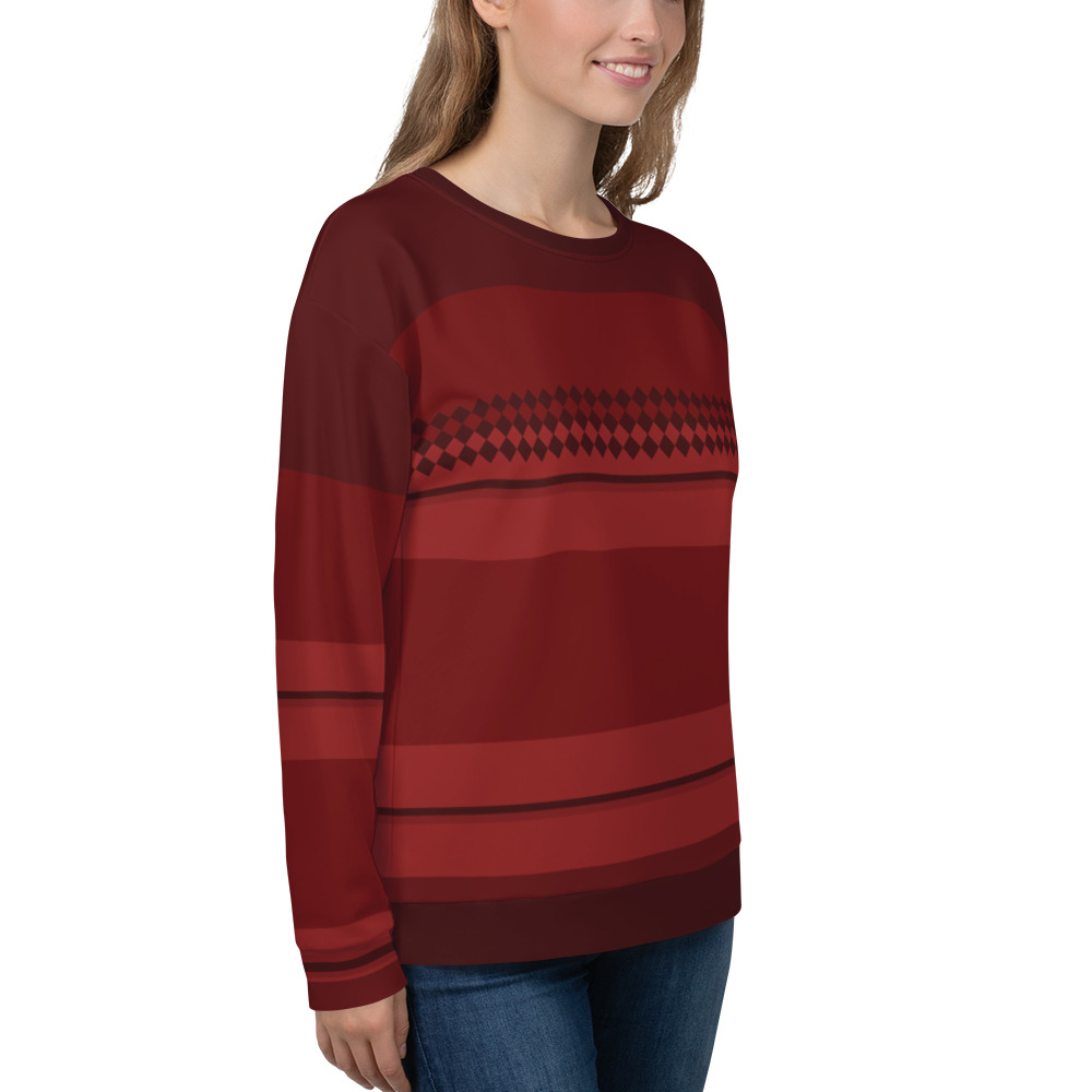 PES dress Pes ideas all over print sweatshirt inspired by January birthstone garnet red color.