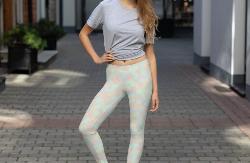 Camouflage Pastel Colors Leggings